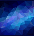 polygonal square background neon blue vector image vector image