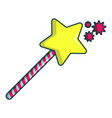princess wand icon cartoon style vector image vector image