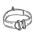rescue belt icon doodle hand drawn or outline vector image