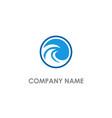 round wave water beach logo