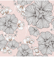 Seamless floral pattern Background with flowers vector image vector image