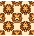 Seamless pattern with lion vector image