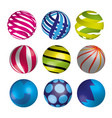 set of realistic shiny colorful balls vector image vector image