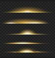 set of yellow glowing light effect isolated vector image vector image