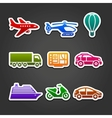 Set stickers color transport vector image vector image