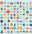 Shopping web design icons vector image vector image
