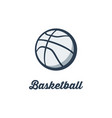 silhouette of basketball ball basketball player vector image