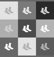 socks sign grayscale version of popart vector image vector image