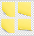sticky reminder notes set vector image vector image