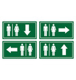 toilet signage set vector image