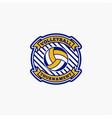 volleyball club badge logo-12 vector image vector image