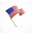 waving american flag flag usa vector image