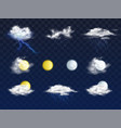 weather forecast 3d icons realistic set vector image vector image