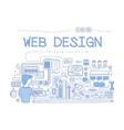 web design internet development concept hand vector image vector image