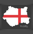 west yorkshire map england uk with english vector image