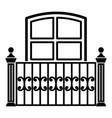 window balcony icon simple style vector image vector image