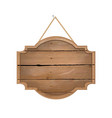 wooden sign isolated white background vector image vector image