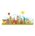 World famous travel landmark international vector image