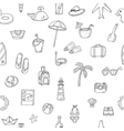 Cute hand drawn summer time theme seamless pattern vector image