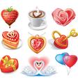 heart-shaped set vector image