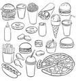 drawing fastfood vector image