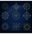 Geometry signs in the blue background vector image