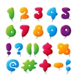 Balloon numbers set vector image