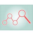 Grid background and circle magnify chart diagram vector image