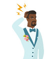 african-american groom with lightning over head vector image vector image