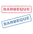 barbeque textile stamps vector image vector image