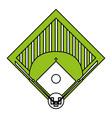 baseball field design vector image