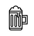 beer mug feast of saint patrick line icon vector image vector image