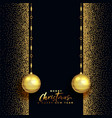 black and gold merry christmas beautiful greeting vector image