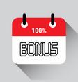 bonus lettering calendar day background icon vector image vector image