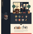 brewery craft beer pub - small business vector image vector image