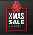 christmas sale banner december holidays vector image vector image