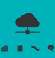 cloud computingserver icon flat vector image vector image