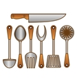 color kitchen tools icon image vector image vector image