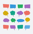 colored speech bubble icons set vector image vector image
