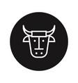 cow head icon vector image vector image