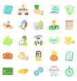 credit card icons set cartoon style vector image vector image