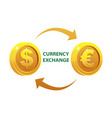 currency exchange or money dollar and euro vector image
