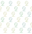 Deciduous tree on a meadow seamless vector image vector image