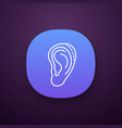 ear plastic surgery app icon vector image vector image
