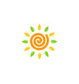 eco sun logo icon design vector image vector image