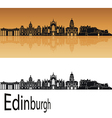 Edinburgh skyline in orange vector image vector image