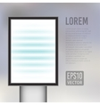 empty vertical light billboard background vector image