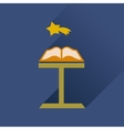 Flat icon with long shadow holy bible vector image vector image
