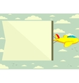 Flying plane with banner vector image vector image