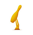 golden award of skittle trophy of ninepins vector image